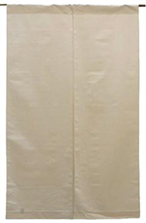 和食と綿暖簾の風合い